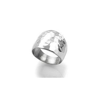 MILA CHUNKY ring, hammered