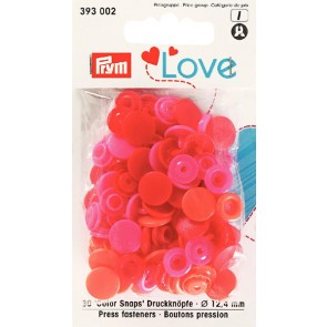 Love Color Snaps rund mix röd
