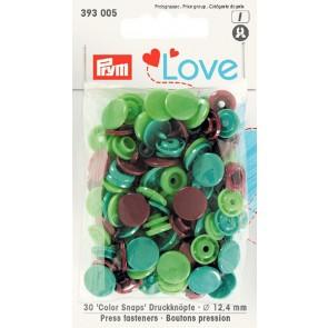Love Color Snaps rund mix grön