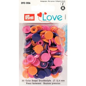 Love Color Snaps rund mix orange