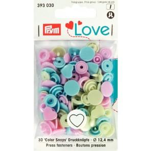 Love Color Snaps hjärta mix pastell