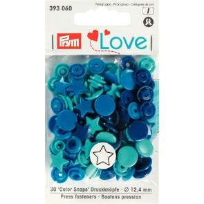 Love Color Snaps stjärna mix blå