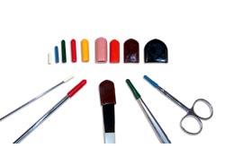 Spetsskydd för instrument vita 1,6-2 mm /20