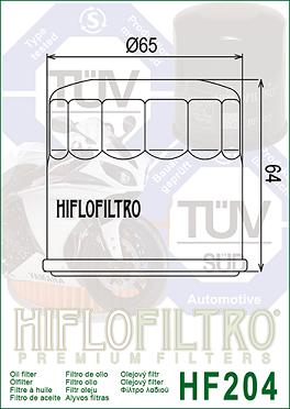 15410-MFJ-D01 Oljefilter Honda Watercraft = Ersätts av HF204 Oljefilter MC