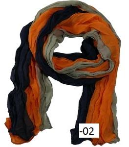 Krinklad flerfärgad chiffonscarves