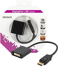 Deltaco DisplayPort till DVI-I Dual Link adapter
