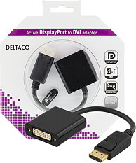 Deltaco DisplayPort till DVI-D Single Link adapter
