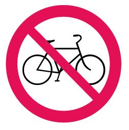 1950 Cykelåkning förbjuden