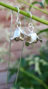 Örhänge silver blomklocka