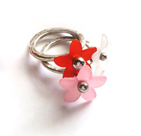 Tripple flowers ring