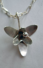 Necklace with silverflower