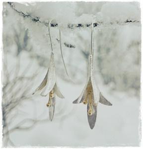 Örhänge silverblomma