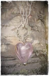 Halsband Rosa hjärta