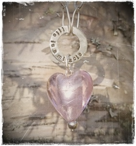 Necklace Pink heart