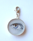 Eye charm with lock S