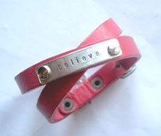 believe leather bracelet SMALL