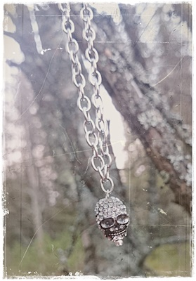 Cool skull necklace in strass