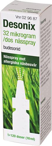 Desonix 32 mikrogram/dos nässpray 120doser