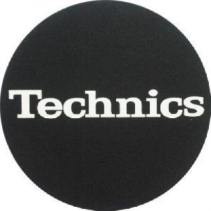 Slipmat Technics Logo white Twin pack