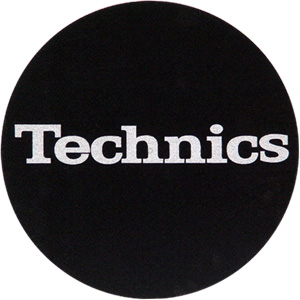 Slipmats Technics Logo silver Twin pack