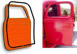 1955-1959 Chevrolet & GMC Pickups,Panels & Suburbans (original type) Dörrlister