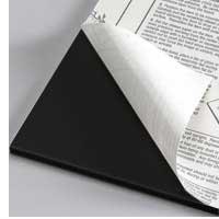 Foamboard 5 mm, svart självhäftande