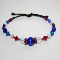 Rondell röd/vit/blå