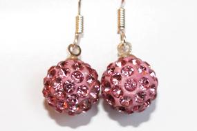 Shamballa knopp rosa med hänge