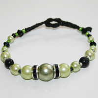 Rondell svart/ljusgrön