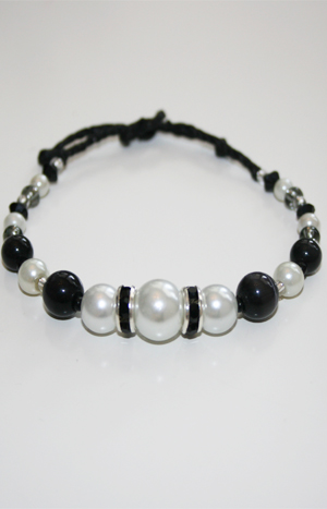 Rondell vit/svart