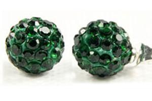 Shamballa knopp grön