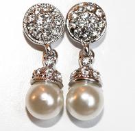 Strass örhänge med pärla