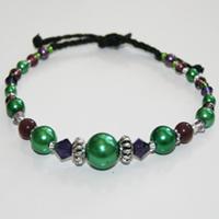 Metall lila/mörkgrön