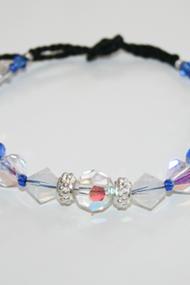 Metall kristall/blå