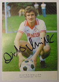 Müller, Dieter - Autograf