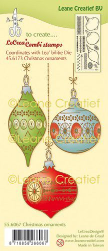 Leane Creatief - Clearstamps -Christmas ornaments