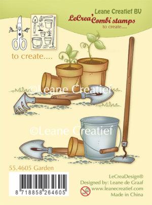 Leane Creatief - Clear stamp -Garden