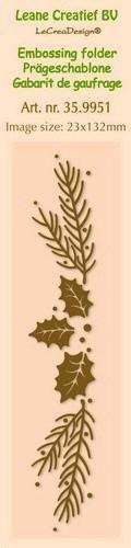 Leane Creatief - Embossing folder - border christmas