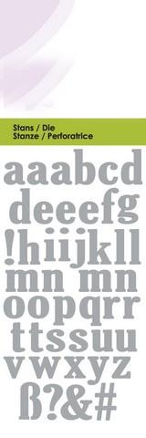 CE lower Alphabet, ca 1-1,5 cm höga