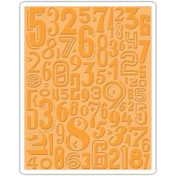 Sizziz Embossing folder - Numeric