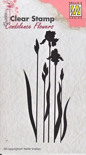 Nellie - Snellen - clear stamp Condolense flowers 004