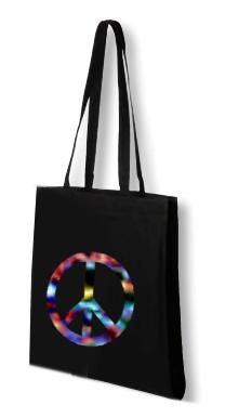 Canvas shoppingbag långa handtag