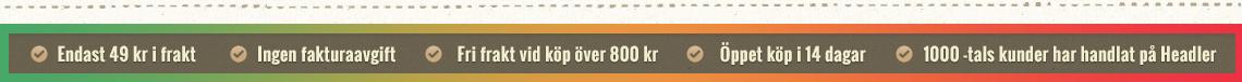 Endast 49 kr i frakt - Snabba leveranser - Fri frakt vid köp över 800 kr - Öppet köp i 14 dagar - 1000-tals kunder har handlat på Headler