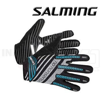 Salming Goalie Gloves Travis ProGrip black / cyan
