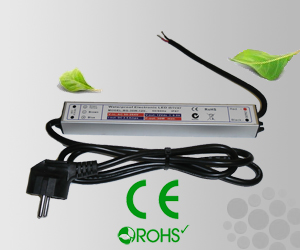 Leddriver/Nätdel 230VAC/12VDC 45W IP67