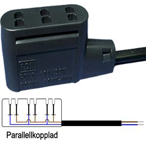 Kontaktstycke 3-vägs parallellkopplad