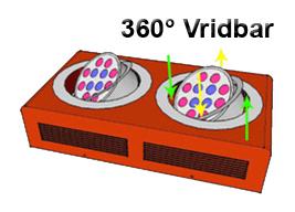 Led Växtbelysningsarmatur 72W Vinkl.bar