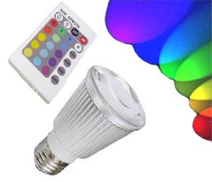 Ledlampa E27 RGB