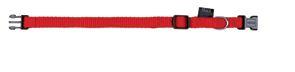 Nylonhalsband Classic, rött