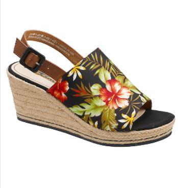 Tamaris sandalett med repklädd kilklack